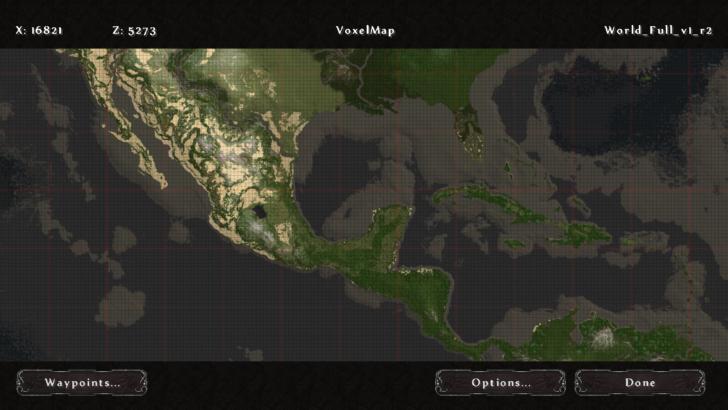 Полноразмерная карта планеты земля в Майнкрафт
