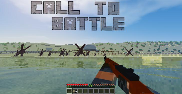 Call to Battle 2 - оружие из второй мировой войны [1.7.10]