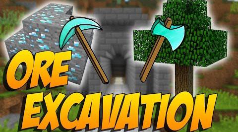 Ore Excavation - быстрая добыча руды [1.14.4] [1.13.2] [1.12.2] [1.7.10]