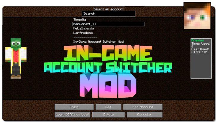 Ingame Account Switcher [1.12.2] [1.11.2] [1.10.2] [1.7.10]