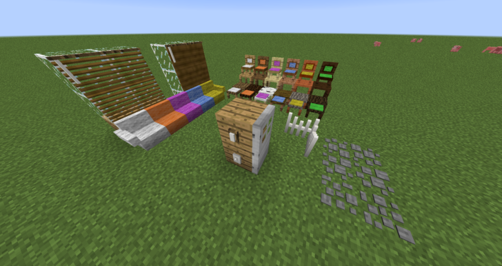 How 'Bout That Furniture [1.12.1] [1.11.2] [1.10.2] (мебель и декоративные блоки)