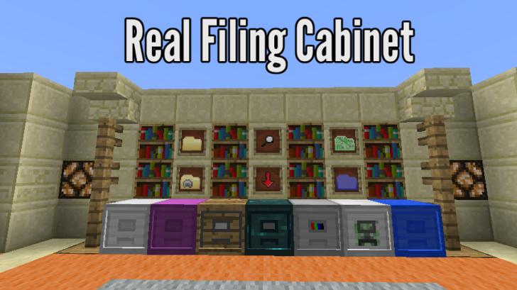 Real Filing Cabinet - удобное хранилеще предметов [1.12.2] [1.11.2] [1.10.2]