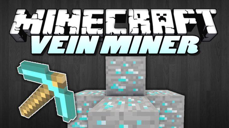 Vein Miner - быстрая добыча руды [1.12.2] [1.11.2] [1.10.2] [1.7.10]