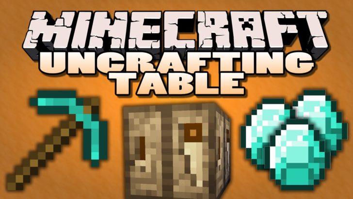 Uncrafting Table - разбери ненужные предметы [1.12.2] [1.11.2] [1.10.2] [1.7.10]