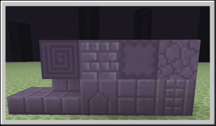 Additional Ender Blocks - строительные блоки для Края [1.12.2] [1.11.2] [1.10.2]