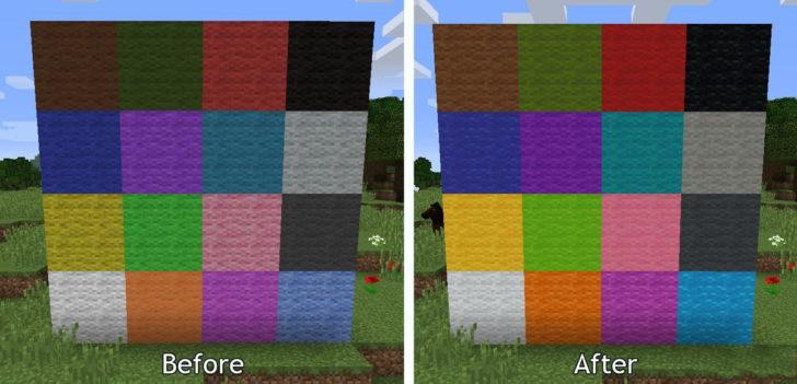 До и после блоки шерсти