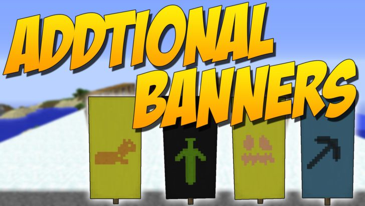 Additional Banners - набор узоров для флагов Майнкрафт [1.13.2] [1.12.2] [1.11.2] [1.10.2] [1.9.4]