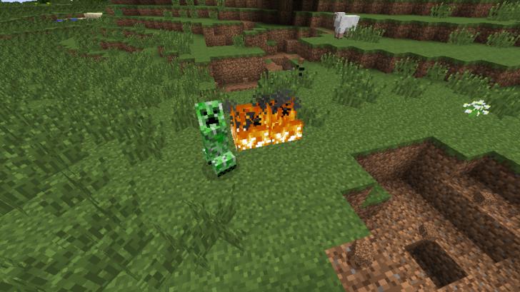 Creepers Fire - криперы не любят огонь [1.12.2] [1.11.2] [1.10.2]