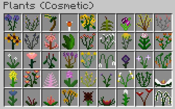 Plants - 107 видов цветов и растений [1.12.2] [1.11.2] [1.10.2]