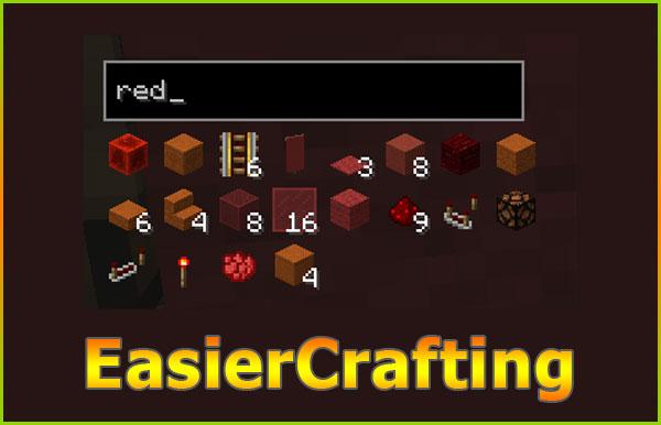 EasierCrafting [1.15] [1.12.2] [1.11.2] (простой крафт предметов)