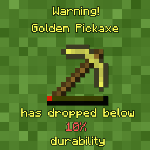 Durability Notifier [1.14.4] [1.13.2] [1.12.2] [1.11.2]