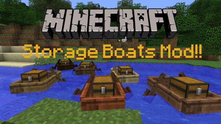 Storage Boats (лодка с сундуком) [1.12.2] [1.11.2] [1.10.2]
