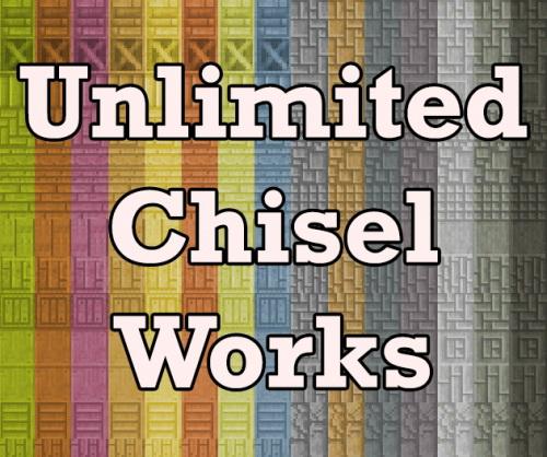 Unlimited Chisel Works - декоративные блоки [1.12.2] [1.11.2] [1.10.2]