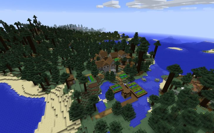 Сид с деревней в тёмном лесу и подводной крепостью [1.12.2]