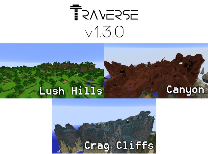 Traverse - 7 новых биомов [1.12.2] [1.11.2]