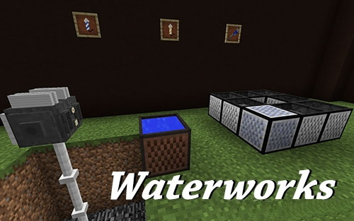 Waterworks (насос для воды, водосборник) [1.12.2] [1.11.2]