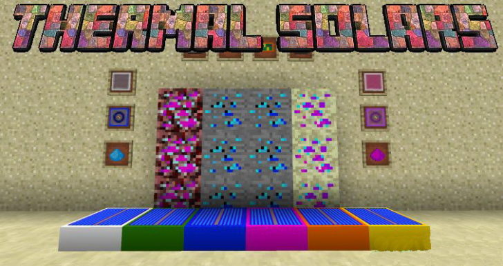 Thermal Solars - солнечные батареи [1.14.4] [1.12.2] [1.11.2] [1.10.2]