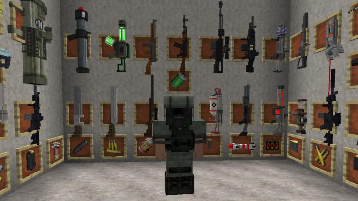 Techguns - высокотехнологичное оружие и броня [1.12.2] [1.7.10]