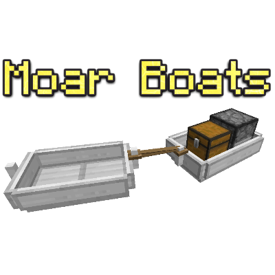 Moar Boats [1.14.4] [1.13.2] [1.12.2] (лодки с автопилотом)
