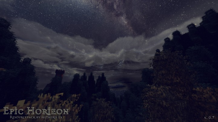 Epic Horizon - красивые текстуры неба [1.12.2] (1024x, 512x, 256x)