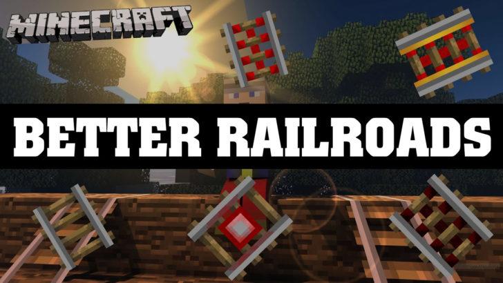 Better Railroads - быстра вагонетка и 8 видов рельс [1.12.2]