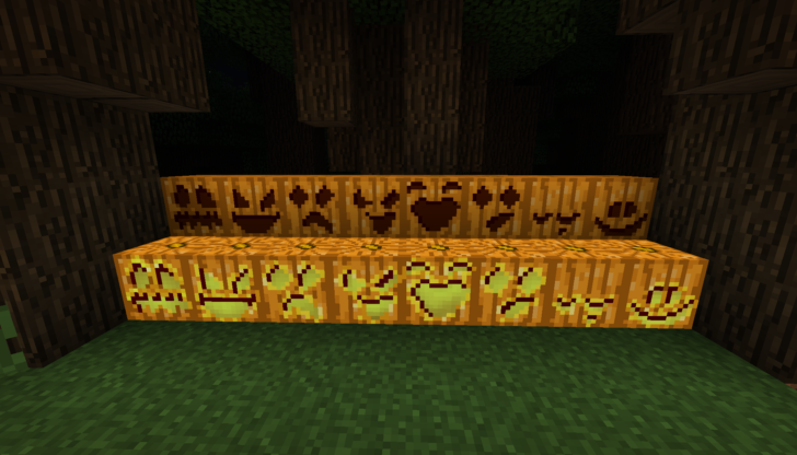 Pumpkin Carving - рожицы на тыквах [1.12.2] [1.10.2]