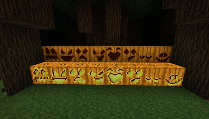 Pumpkin Carving - рожицы на тыквах [1.12.2] [1.10.2]