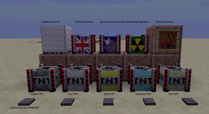 Tactical Explosives - новые виды динамита [1.11.2] [1.10.2]