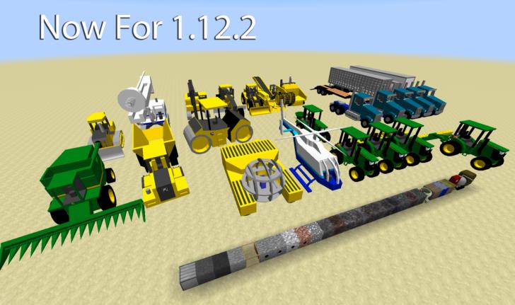 Heavy Machinery - трактора, самосвалы, бульдозеры и вертолеты [1.12.2] [1.8.9] [1.8]