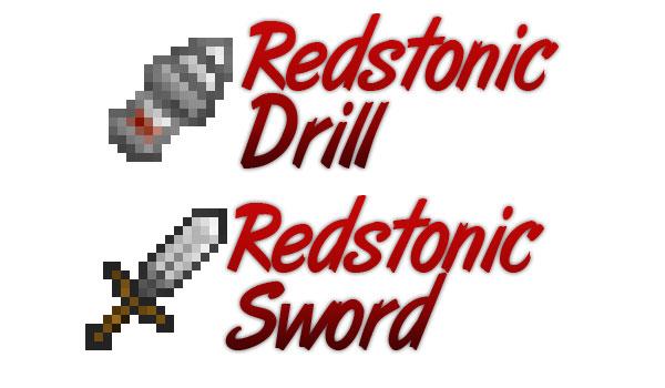 Redstonic - мечи и дрель на RF-энергии [1.10.2]