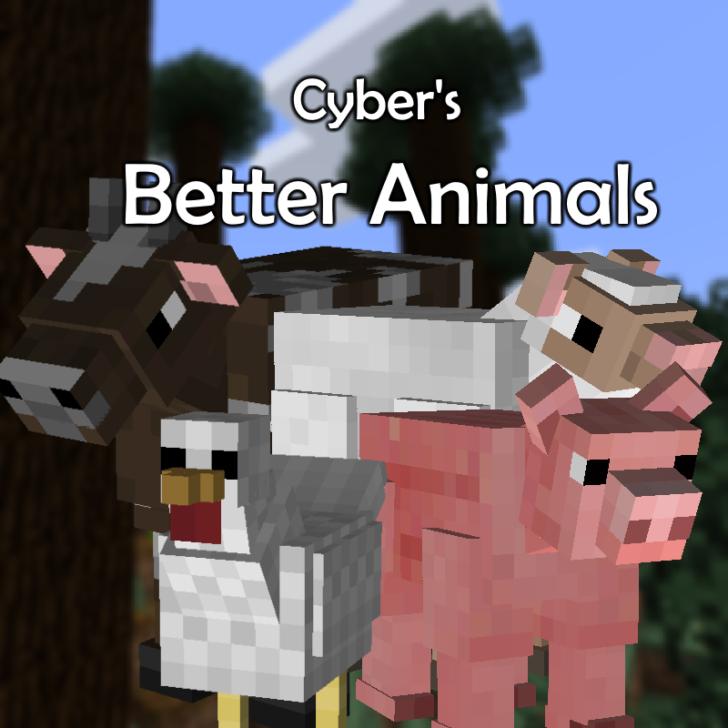 Better Animal Models - улучшенные модели мобов [1.12.2] [1.10.2]