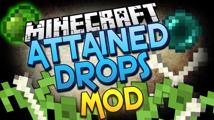 Attained Drops [1.14.4] [1.13.2] [1.12.2 - 1.7.10] (выращивание предметов выпадающих из мобов)