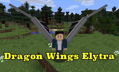 DragonWingsElytra - крылья дракона [1.12.2]