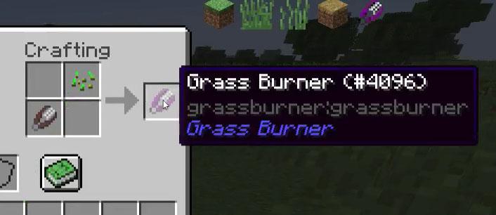 Grass Burner - уничтожитель травы [1.12.2] [1.11.2] [1.10.2]