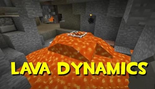 Lava Dynamics - реалистичная лава [1.12.2]