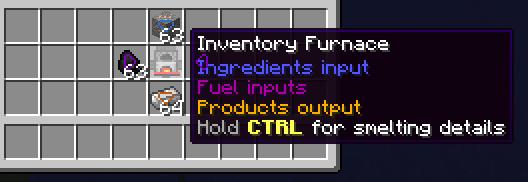 FactInventory - переплавка руды в инвентаре [1.12.2]