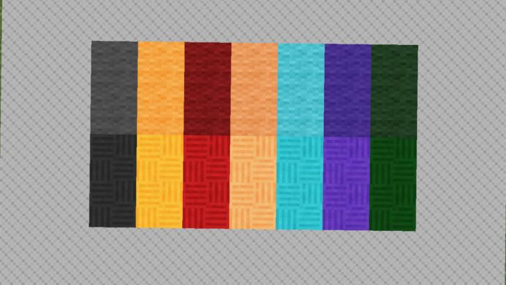 Wallpapers Craft - цветные блоки с разными текстурами [1.12.2]
