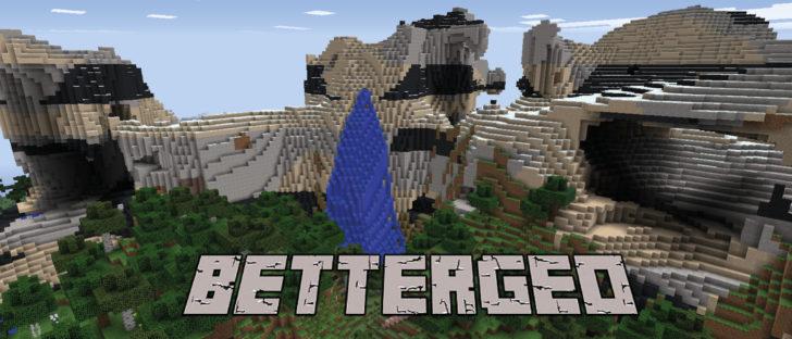 BetterGeo - генератор реалистичных миров [1.12.2] [1.7.10]