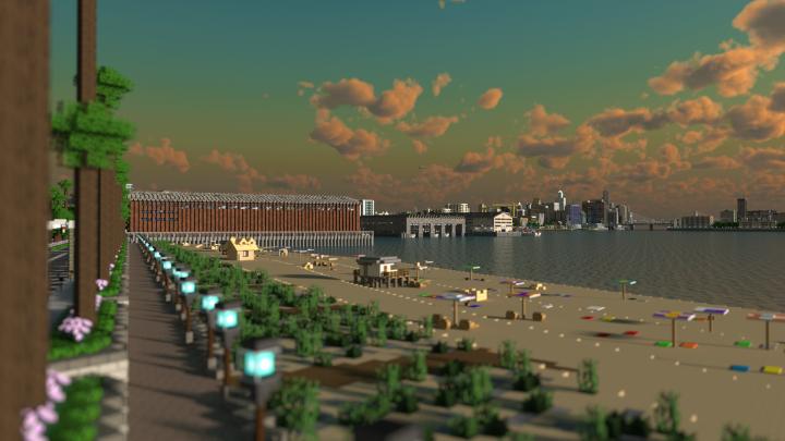 Greenfield - огромный современный город [1.12.2]