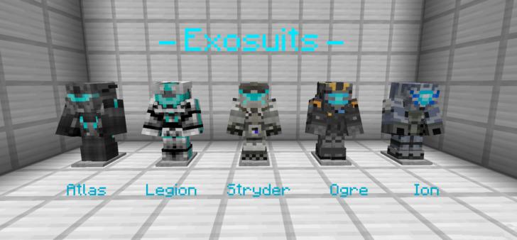 EXO-Craft - экзокостюмы как в Titanfall и Anthem [1.12.2]