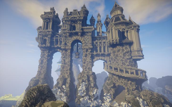 Avarderon Castle - эпичный замок с драконом [1.12.2]
