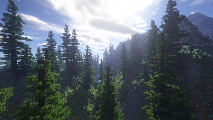 Villager's Valley - реалистичная лесная долина 3000x3000 [1.13.2]