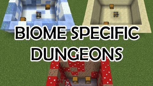 Biome Specific Dungeons - разнообразные сокровищницы [1.12.2]
