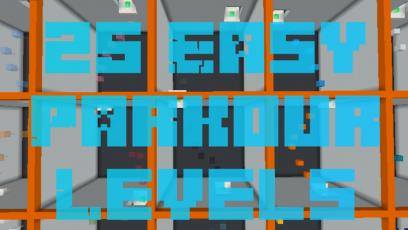 25 Easy Parkour Levels - 25 паркур ровней для новичков [1.13.2]