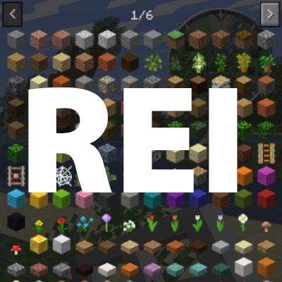 Roughly Enough Items (REI) [1.14.4] [1.13.2] (рецепты предметов и читы)