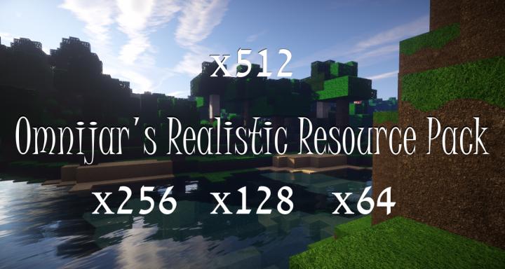 OmniJar's Realistic [1.13.2] (64x, 128x, 256x, 512x)