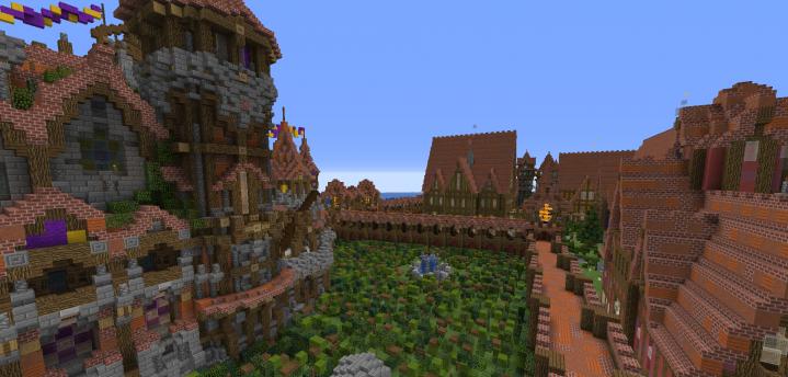 City of Aythenia - средневековый город с огромным замком [1.13.2]