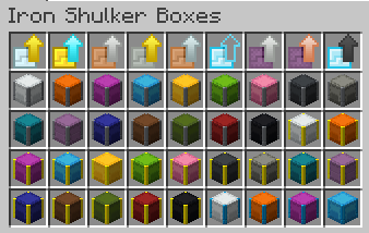 Iron Shulker Boxes [1.14.4] [1.13.2] - цветные ящики шалкера