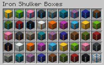 Iron Shulker Boxes - цветные ящики шалкера [1.13.2]