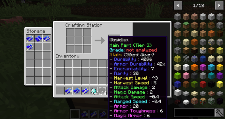 Silent Gear [1.14.4] [1.13.2] [1.12.2] - модульное оружие, инструменты и броня